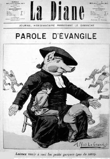 L'attribut alt de cette image est vide, son nom de fichier est Caricature-anticléricale-19ième-siècle_cr.jpg.